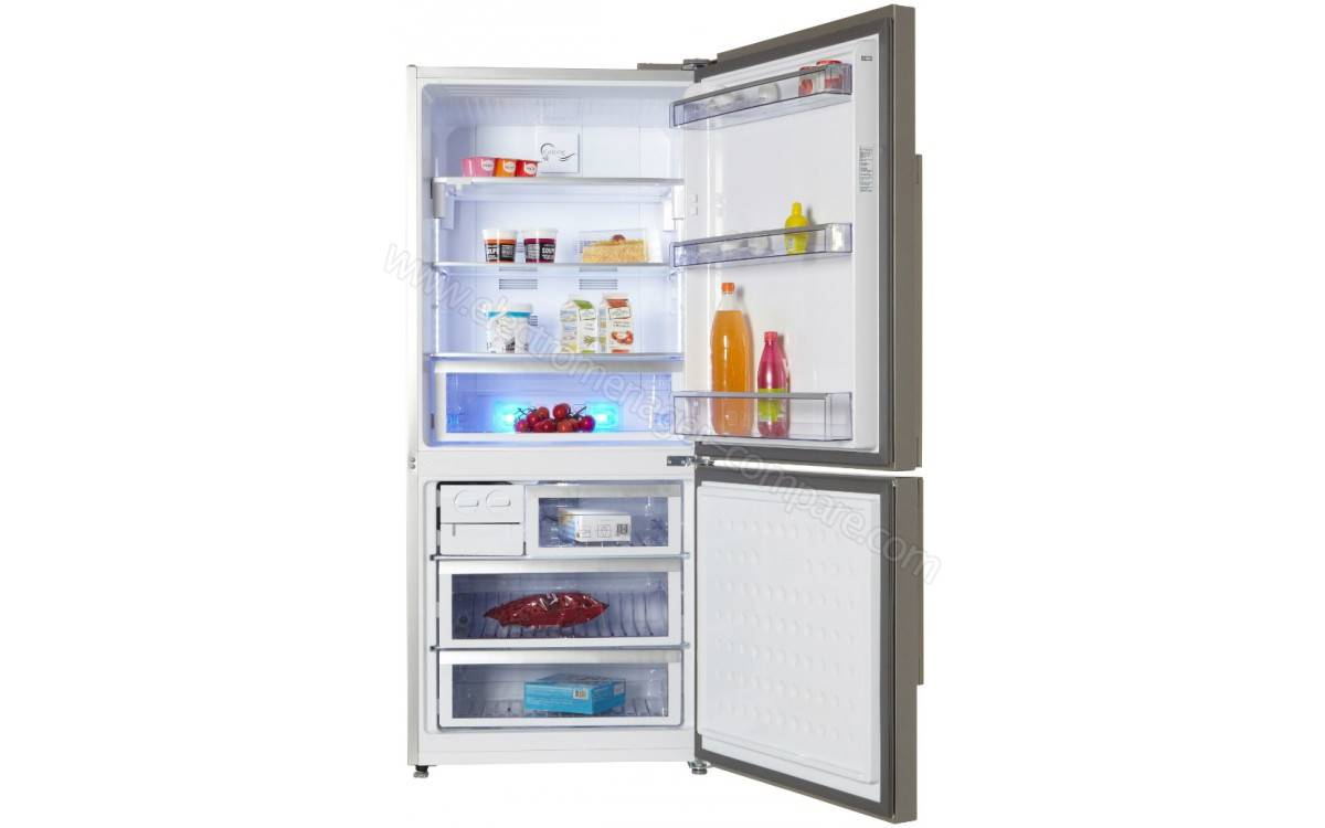 refrigerateur combine no frost 500 litres 3 tiroirs classe a inox beko electromenager dakar. Black Bedroom Furniture Sets. Home Design Ideas