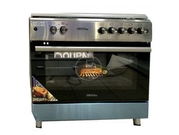 Cuisinière à gaz Tecnolux 90X60 - 5 feux Inox