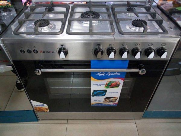 cuisinière tecnolux 5 feux 90x60 inox | Electroménager Dakar
