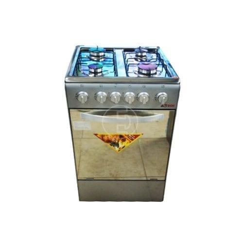 Cuisinière gaz ASTECH 4feux 50 x 50_Inox