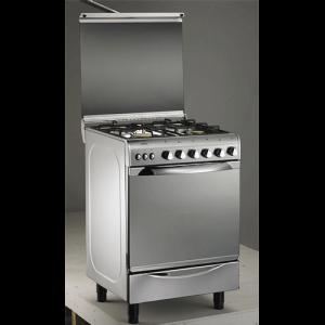 cuisinière à gaz universelle 4feux 60 x 60_inox