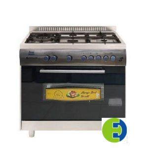 Cuisinière à gaz Continental 5 FEUX Inox