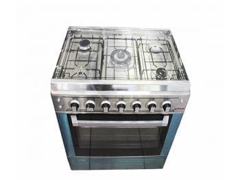Cuisinière Astech 5-Feux 80X60 INOX/80MIS