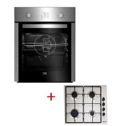 Four Encastrable Beko BSE22130X + Plaque de cuisson