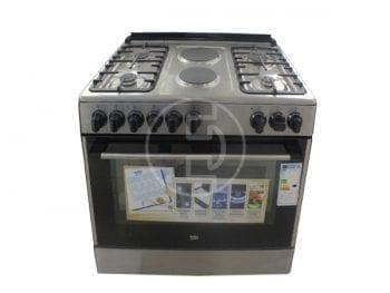Cuisinière mixte Beko GE12121DX - 6 feux, 112L