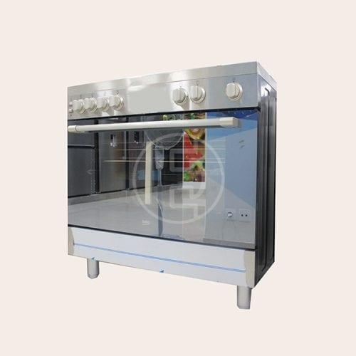 Cuisinière à gaz Beko GG15121DX - 5 feux INOX