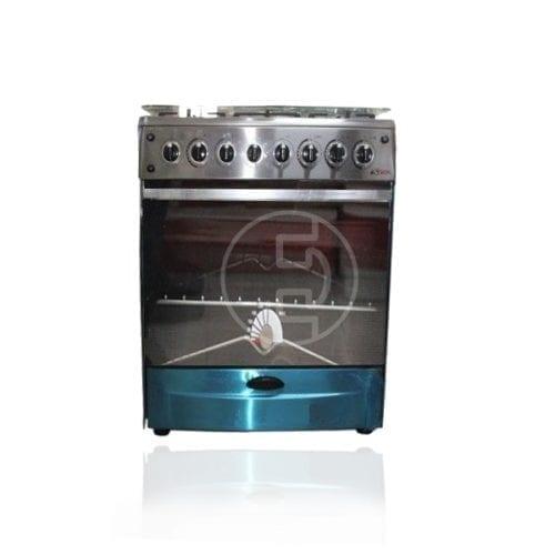 Cuisinière Astech 5 feux 90x60 Inox 90 mis