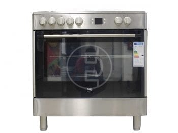 Cuisinière Beko GM17300GX - 5 feux 100% électrique