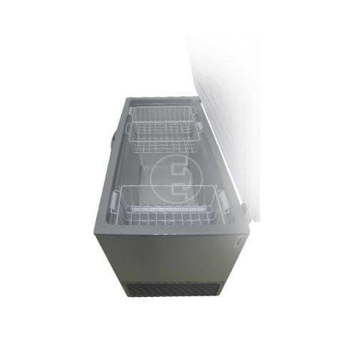 Congélateur coffre Beko HSA40502 - 374 L Silver