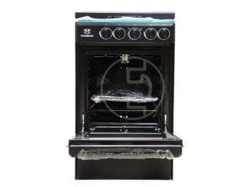 Cuisinière à gaz Nasco 50x55-S Noir 4 Feux