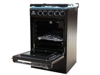 Cuisinière à Gaz Nasco 4 Feux - 60x60 S-Noir