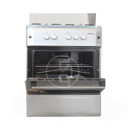 Cuisinière à Gaz Tecnolux 4 feux - 60x60 Inox ZIRI