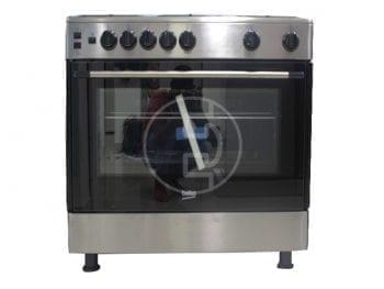 Cuisinière Beko GG15112GX - 5 feux, four à gaz