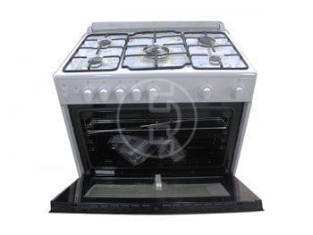 Cuisinière à gaz Beko GG15114G - 5 feux Blanc