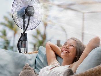 Ventilateur sur Pied Brumisateur avec télécommande