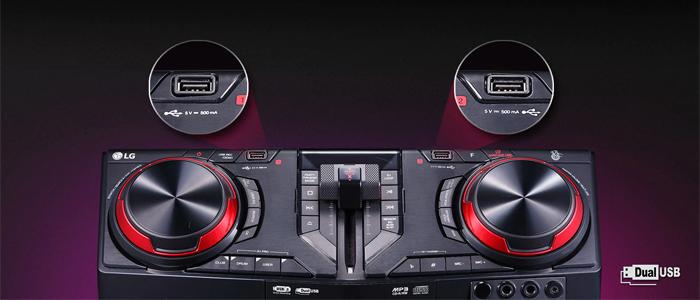 Mini chaîne LG CJ87 - Bluetooth